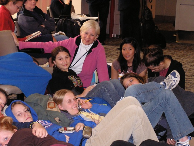 Even down time at the airport can be fun with students. From eady to be an Expat? A life overseas is within your grasp