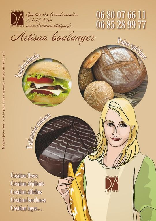 création flyer Boulangerie