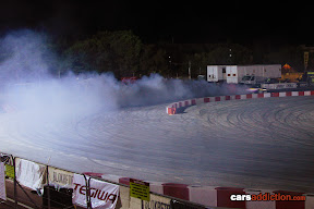 Drift car smoking it!