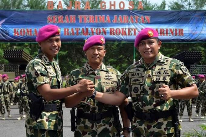 Serah Terima Jabatan Komandan Batalyon Roket-1 Marinir