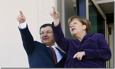 Merkel gemeinsames Zeigen mit Dava  8.2.2016