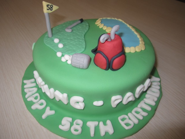 itsybitsybite Golf Cake for Akung Papa