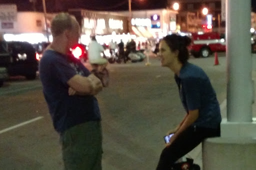 Chris spoke with a Romanian exchange student and was able to help her find a good church in the area.