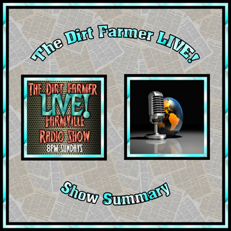 The Dirt Farmer LIVE! Show Summary January 22nd, 2017