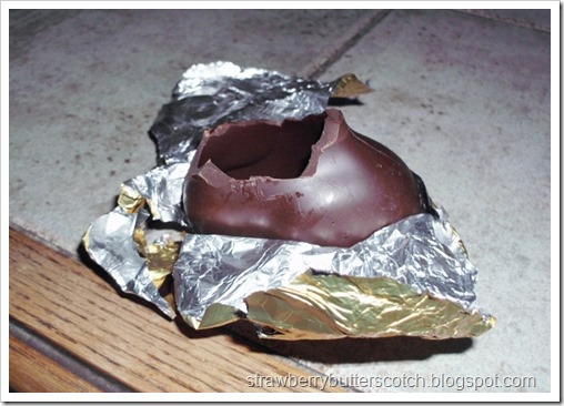 Chocolate Bunny with Head Eaten Off
