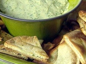 Serve with pita points. bread pieces, or veggies.