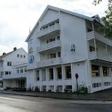 Laatste blik op ons hotel in Kinsarvik.
