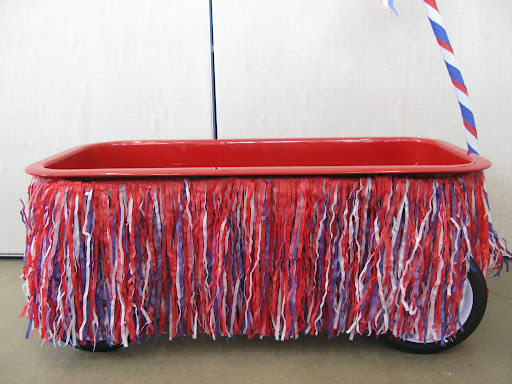 This shaggy fringe transforms our wagon into a mini parade float.