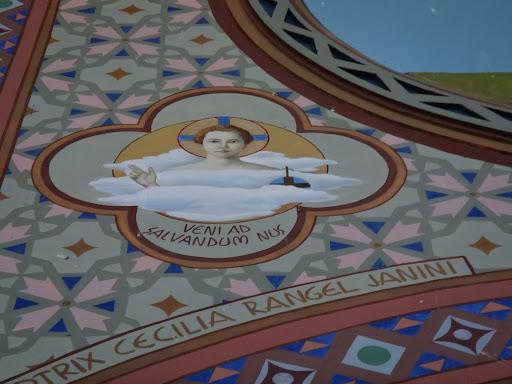 Arte Sacra Simbolizando as Profecias da Vinda de Jesus Cristo. Em latim, Veni ad Salvandum Nus, que significa, Vinde para salvar-nos. Simboliza também a imagem da Divina Criança, ainda escondida na nuvem virginal de Maria.