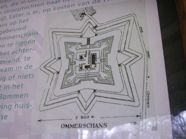 Plattegrond van de Ommerschans