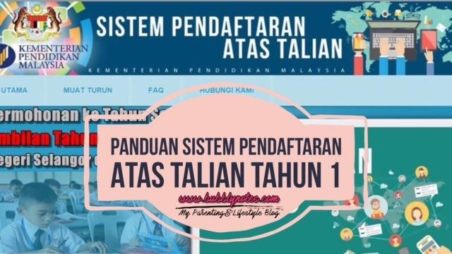 PANDUAN SISTEM PENDAFTARAN ATAS TALIAN TAHUN 1