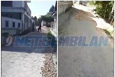 Miris,,Proyek Pokmas Pengaspalan Jalan di Kelurahan Lawangan Daya Pamekasan Hanya Tambal Sulam