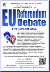 EU Referendum Debate 25 May 2016