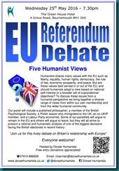 EU Referendum Debate 25 May 2016