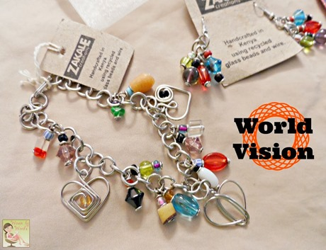 World Vision Bracelet & Earrings[5]