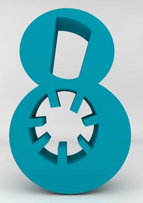 lettre 3D homme joker turquoise - 8 - images libres de droit