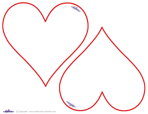 Printable Shape Templates Coloring Pages Of Hearts