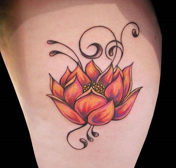 tricolor_flor_de_ltus_da_tatuagem