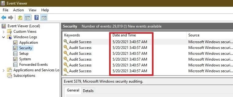 كيفية معرفة ما إذا كان شخص آخر يقوم بتسجيل الدخول إلى Windows Pc Log Ins