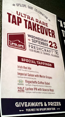 Freshcraft, featuring 28 some taps and tap takeovers each night. On Wednesday September 23 the featured brewery was UpSlope