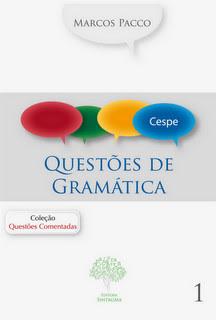 capacespe Download   Questões Comentadas de Gramática   Cespe UnB   1 Edição