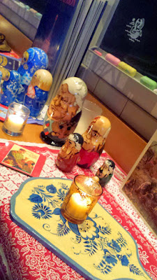 Check out some of the tchotchkes along the countertop as you walk towards the tables of DaNet Russian Pop Up- I always get a kick out of the nesting dolls with Yeltsin, Gorbachev, Brezhnev, Stalin