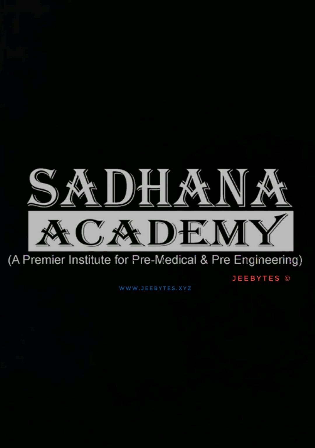 Sadhana Academy NEET Test Series 2020 [PDF]