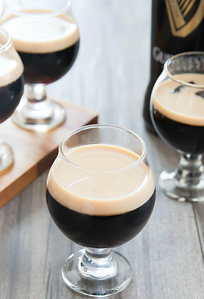 close-up photo of Guinness Stout Jello with Baileys Irish Cream