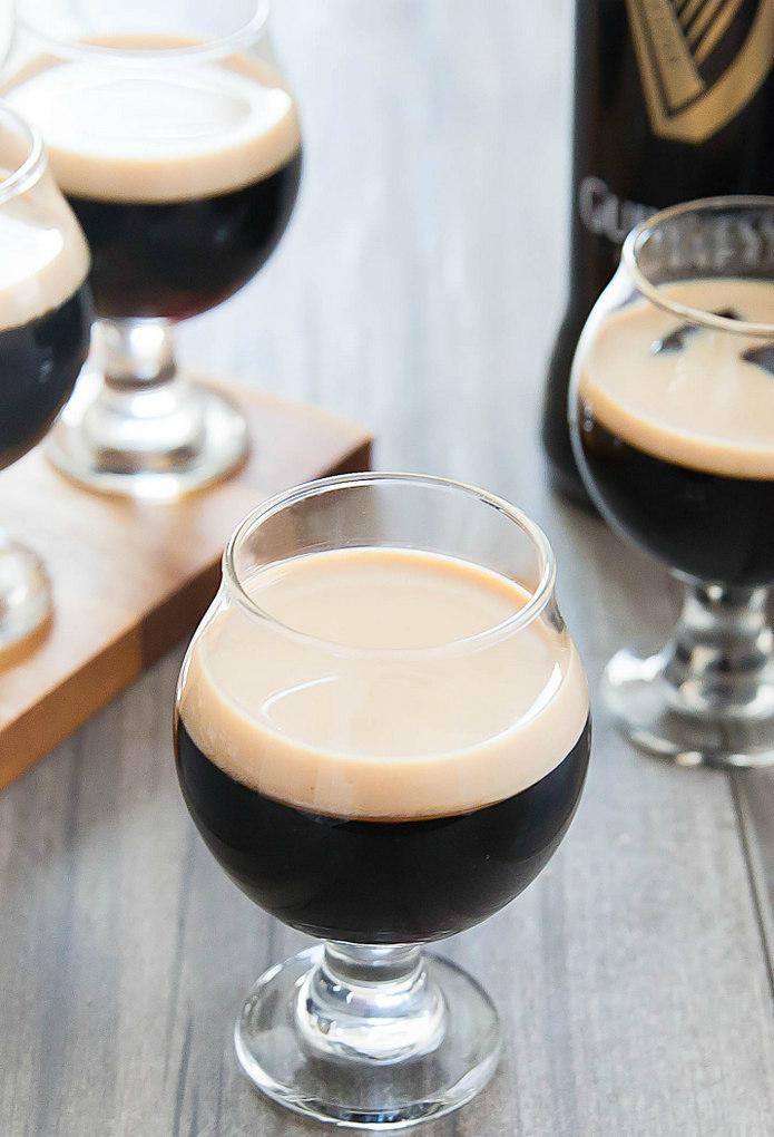 close-up photo of Guinness Stout Jello with Baileys Irish Cream