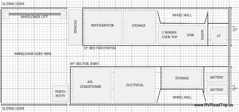Ram Promaster Rv Camper Van Conversion Floor Plan
