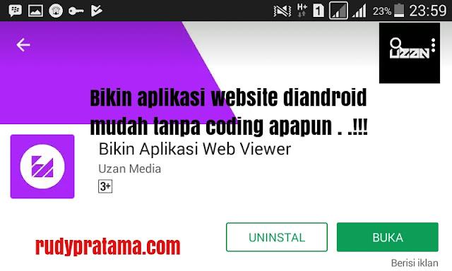 Cara bikin aplikasi website android