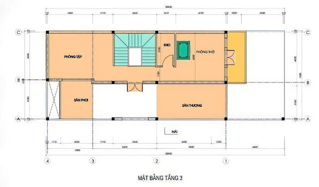 Chiêm ngưỡng mẫu thiết kế biệt thự cổ điển 3 tầng diện tích sàn 7x13m