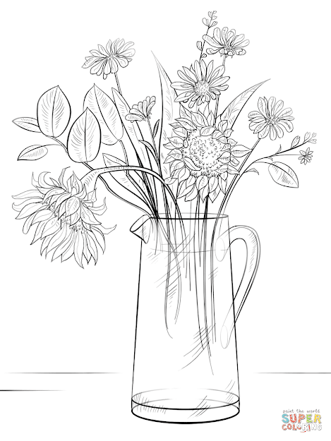 Click The Bouquet Of Flowers Coloring Pages To View Printable