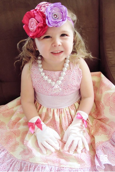 Fancy Tea Party Garden Party Birthday Outfit Handmade by Daydream Believers Designs