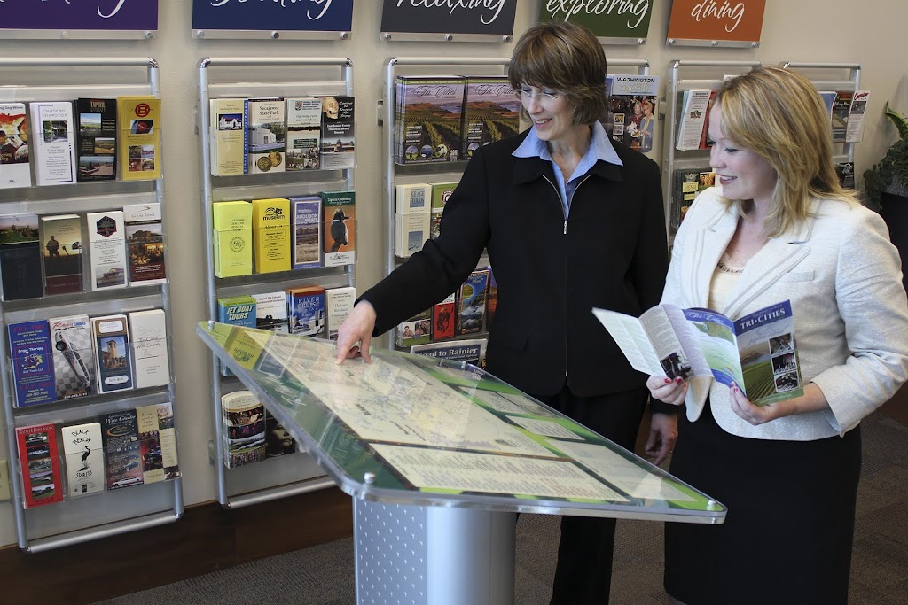 We included a map stand in the lobby.  The plexiglas cover can be removed and the map updated/changed.