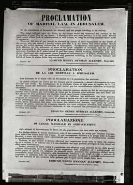 Allenby entry, proclamation of martial law, mat05790