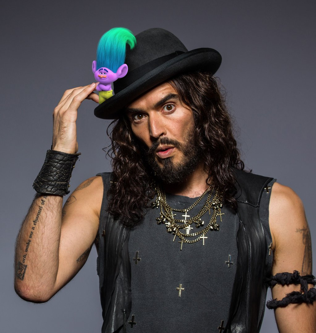 Russell Brand voices Creek in DreamWorks Animation's TROLLS.