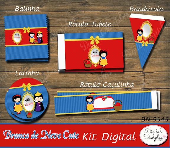Kit Digital Branca de Neve Cute  .....artesdigitalsimples@gmail.com