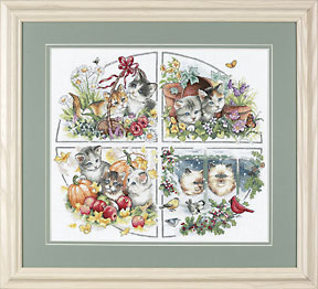 Four Seasons Kittenscross stitch pattern