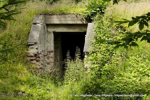Ammunitionsdepot fra 2. verdenskrig i Østerskoven ved Haderslev.