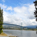 Lions Gate Bridge view from Stanley Park in Vancouver, British Columbia, Canada