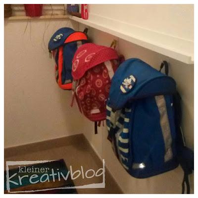 kleiner-kreativblog: Aufbewahrung für Schulranzen