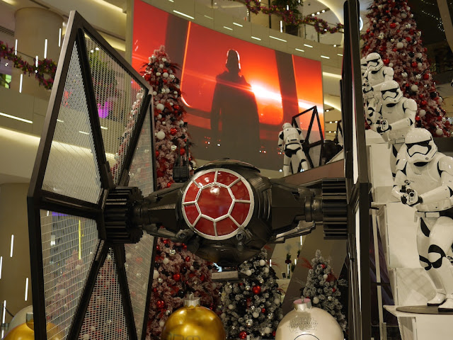 Star Wars TIE fighter and Stormtroopers at the IAPM shopping center in Shanghai