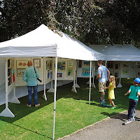 27 July 2014.  Art in the Park.  Pictures on display.