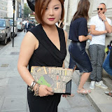 WWW.ENTSIMAGES.COM -   Lulu Liu  leaving    The Design Collective for Evans at The Freemasons Hall, LondonSeptember 16th 2014Show hosted by Arcadia Group owner Sir Philip Green as plus size retailer Evans makes its debut on the London Fashion Week schedule.                                                   Photo Mobis Photos/OIC 0203 174 1069