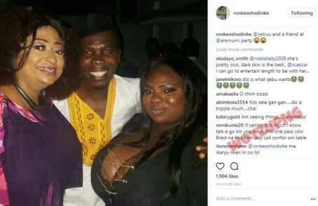 Ronke Oshodi-Oke And Her Friend Flaunt Big Boobs