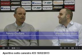 Trieste: coach Nevio Giuliani ad Aperitivo sotto Canestro