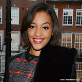 WWW.ENTSIMAGES.COM -    Amal Fashanu      arriving at LFW s/s 2014: Nina Naustdal - catwalk show at The May Fair Hotel, Stratton Street, London September 19th 2013                                                 Photo Mobis Photos/OIC 0203 174 1069