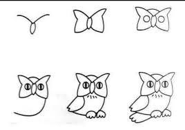 Anak Belajar Menggambar Menggambar Burung Hantu