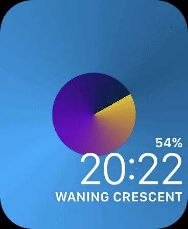 وجه Apple Watch مخصص.
